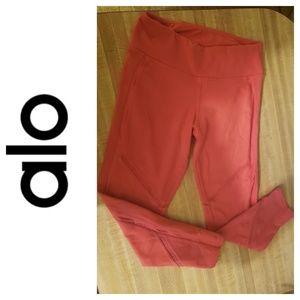 ALO, Coral, Yoga Leggings, Cropped, XS,